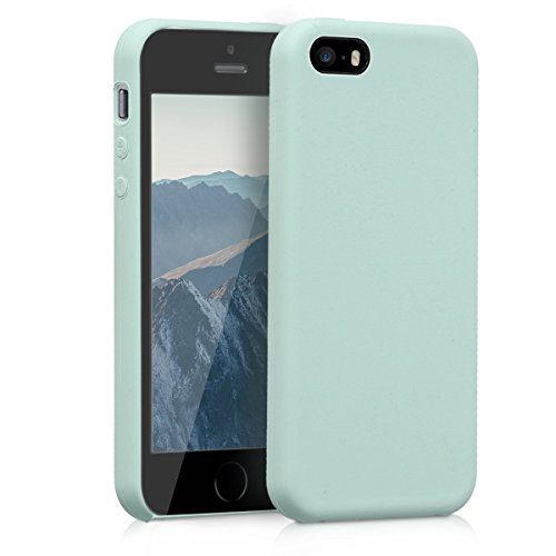 kwmobile Apple iPhone SE / 5 / 5S Hülle - Handyhülle für Apple iPhone SE / 5 / 5S - Handy Case in Mintgrün Matt