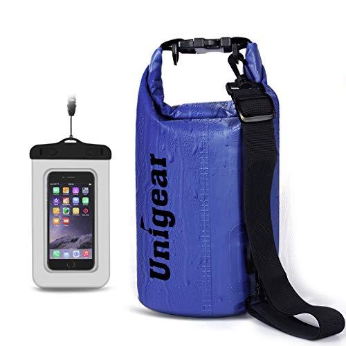 Dry Bag Sack, Wasserdichte schwimmende Dry Gear Taschen für Bootfahren, Kajak, Angeln, Rafting, Schwimmen, Camping und Snowboarden (Blau, 5L)