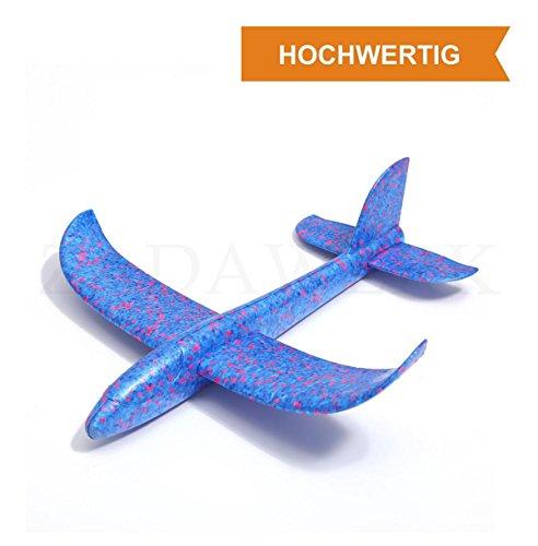 ZADAWERK Styroporflieger - 35 cm - Blau - Outdoor-Spielzeug - Kinder-Geburtstag