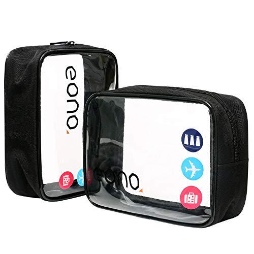 Amazon Brand: Eono Essentials durchsichtiger Kulturbeutel Reisegepäck Beutel Make-up Kosmetiktasche für Frauen Männer Kinder wasserfest Waschbeutel für die Dusche Organizer