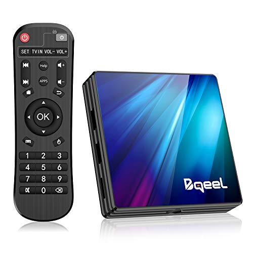 Bqeel Android TV Box R1 Plus/ 4G Ram 64G Rom/ Android 9.0 TV Box mit RK3318 Quad-Core 64bit Cortex-A53/ unterstützt WiFi 2.4G/5.0G /Bluetooth 4.0/ 4K/USB 3.0/ HDMI 2.0a Smart tv Box Android Box