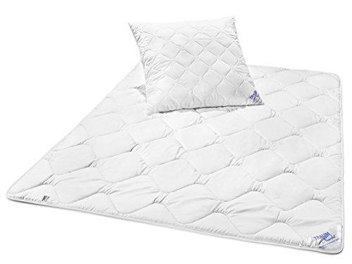 Traumnacht 03831469140 3-Star Bettenset 4-Jahreszeiten, 1 x teilbare Bettdecke 135 x 200 cm und 1 x Kopfkissen 80 x 80 cm, weiß