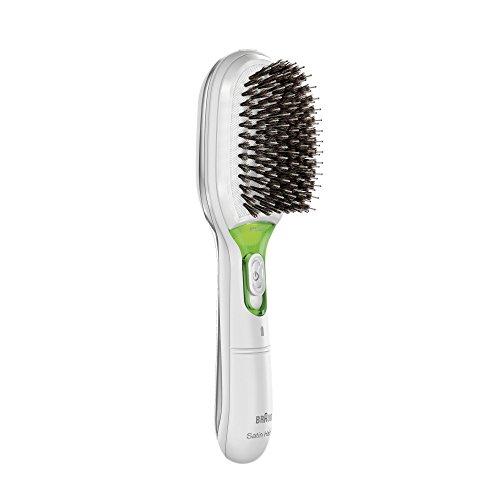 Braun Satin Hair 7 Haarbürste BR750, mit IonTec, Naturborsten, weiß