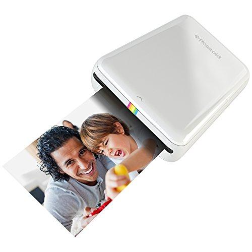 Polaroid ZIP Handydrucker mit ZINK Zero tintenfreier Drucktechnologie – Kompatibel mit iOS- & Androidgeräten - Weiss