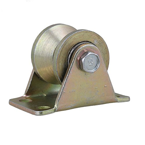 Liebeck 1,2'Durchmesser gelb 45# Stehlen Groove Starre Laufrolle mit Stahllager, Kapazität 441Lbs, industriell