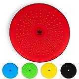ZenBalance Plus Balancekissen 33 cm inkl. Pumpe I Balance Kissen Ball zum Sitzen und als Balance Trainer mit GRATIS E-Book & Workout-Guide I Aufblasbares Wackelkissen als Gleichgewichtstrainer (Rot)