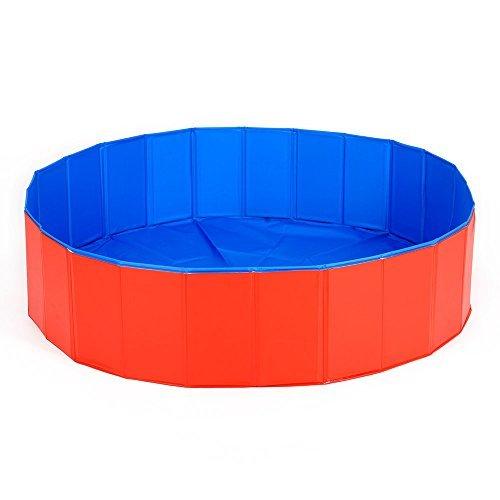 HOOPET Anti-Rutsch Hund Schwimmbecken Hundepool 75x20cm Rot