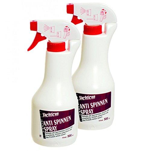 Yachticon Anti Spinnen Spray - 2 Flaschen zu je 500ml = 1 Liter