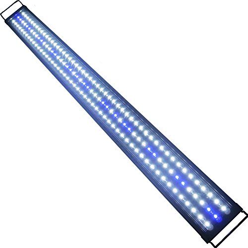 Aquarien Eco LED Aquarium Fische Tank Beleuchtung Aufsetzleuchte Blau Weiß Aquairum Abdeckung 125-140CM (120cm 33W)A060