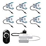 MaRo LED Strahler für Terrassenüberdachungen dimmbar mit Fernbedienung LED Strahler Anzahl 6 Strahler