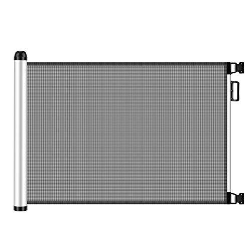 Meinkind Türschutzgitter|Treppenschutzgitter Roll, Hundeschutzgitter, Baby Absperrgitter ausziehbar & einrollbar, 88cm x 110cm