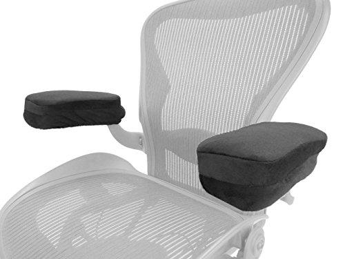Arm-Eaz Armlehnen Polster für Bürostuhl und Spielstuhl, Memory-Schaum Arbeitsplatz Schreibtischstuhl Armlehnen Kissen für Ellenbogen Komfort