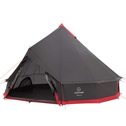 JUSTCAMP Bell 8 Tipi Zelt für Gruppen, Familien oder Camping bis zu 8 Personen