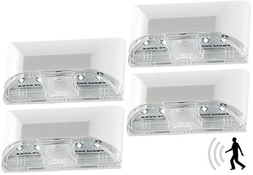 Lunartec Schlüssellochbeleuchtung: Automatische LED-Türbeleuchtung mit PIR-Sensor im 4er-Set (Türlicht)