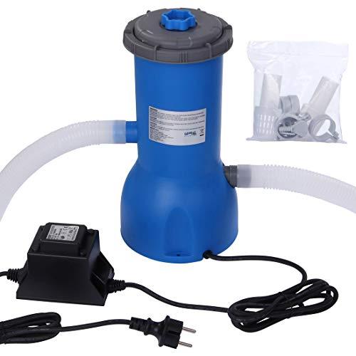 Blueborn Pool Pumpe PP 3785 L/h Kartuschen-Filterpumpe 230V 99W Schwimmbadpumpe Wasser Filteranlage