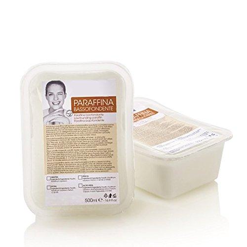 Kosmetex Paraffin-wachs Neutral Parfümfrei, Paraffinbad mit niedrigeren Schmelzpunkt, 2 x 500ml, Wachs Neutral