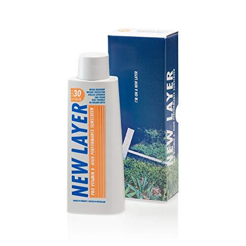 NEW LAYER Sonnencreme | LSF 30 | Pro Vitamin D | Frei von Mikroplastik | Reef-friendly | Frei von Octocrylenen | Wasserfest (200ml)