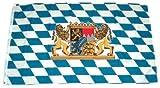 Flaggenking Fahne Flagge Freistaat Bayern Löwe ohne Schrift, mehrfarbig, 150 x 90 x 1 cm, 16995