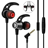 In Ear Kopfhörer, Nasharia In Ear Ohrhörer mit Mikrofon Stereo Earphones Wired Ohrhörer Noise Cancelling Headset Headphones Sportkopfhörer für iPhone iPad MP3 Samsung Android Smartphones