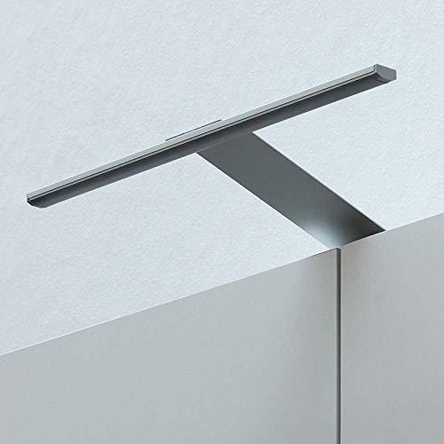 LED Kleiderschrankleuchte Aufbauleuchte Schrankbeleuchtung 31cm 4W in Aluminium, IP23, warmweiß 3100K - für Möbel, Spiegel und Badezimmer 12V zum Aufschrauben (Aluminium - Warmweiß 3100K)