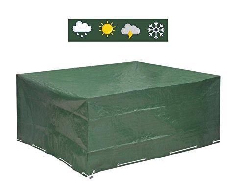 Abdeckplane Gartenmöbel 250x210x90 - Gartenmöbel Abdeckung Wasserdicht Schutz vor Wind und Wetter - Schutzhülle für Eckige Gartentische und Schutzhaube für Garten-Lounge Sitzgarnitur von GloryTec