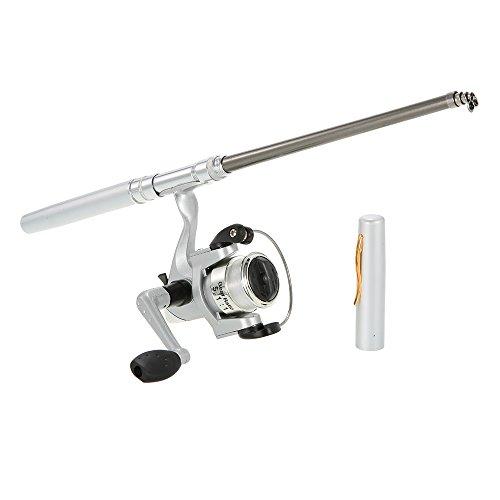 Docooler Mini Stift Angelrute/Feder Angelrute mit Angelrolle, Material: Aluminiumlegierung, Länge: 20cm-96.2cm