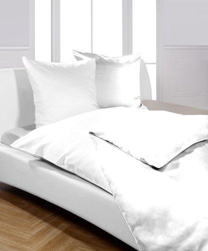 Bettwäsche / Hotelbettwäsche Linon weiß Serie 'Moon' mit Reißverschluss-135x200