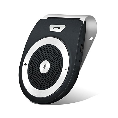 Aigital AUTO POWER ON Kfz Freisprecheinrichtung Bluetooth Auto Freisprechanlage Visier Car Kit mit eingebautem Bewegungssensor, Unterstützt GPS, Musik, Handsfree für 2 Telefone gleichzeitig - Wireless Sun Visor Speakerphone