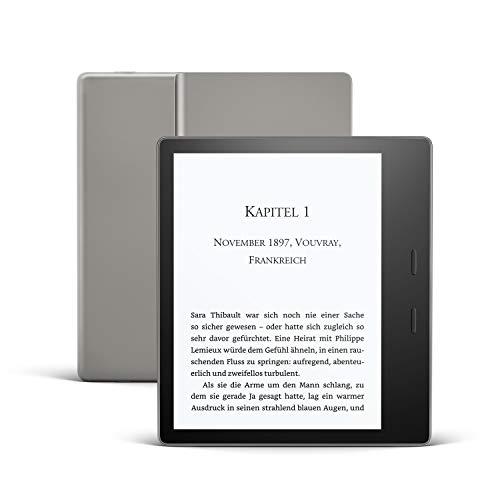 Der neue Kindle Oasis, Leselicht mit verstellbarer Farbtemperatur, wasserfest, 8 GB, WLAN, Grafit