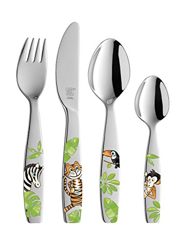 Zwilling 07135-210-0 Kinderbesteck Jungle 4 tlg., Edelstahl 18/10, poliert