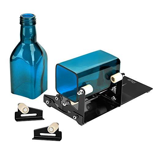 FIXM Vierkant und Rund Flaschenschneider und Flaschenhals-Schneider Set mit Zubehörwerkzeug Set, Passend für technische Verwendung, Hausdecoration, DIY für runde und quadratische Flaschen -'MEHRWEG'