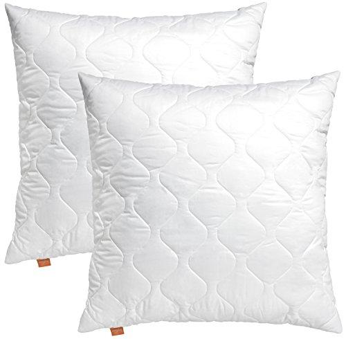 2er Set sleepling 191122 Komfort 100 Kopfkissen Mikrofaser 80 x 80 cm, weiß