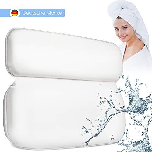 Luana Rose Badewannenkissen mit Saugnäpfen - Kissen für die Badewanne oder Whirlpool - Nacken Badekissen - Nackenkissen für SPA Wellness Wannenkissen - Geschenk für Sie - Badewannen Kopfkissen