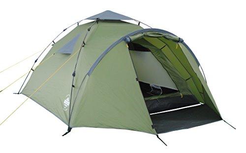 Lumaland Outdoor Pop Up Familienzelt Wurfzelt 3 Personen Zelt Camping Festival etc. 220 x 220 x 130 robust Grün