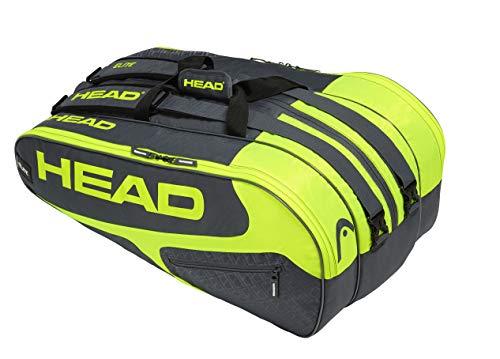 HEAD Elite 3r Pro Tennisschlägertasche, Unisex, 283749GRNY, Grau/Neon-Gelb, Einheitsgröße
