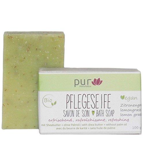 Manufaktur Pur Bio Natur-Olivenölseife Lemongrass 100 g