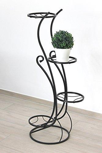 DanDiBo Blumentreppe Metall Schwarz 96 cm Blumenständer mit 4 Ablagen KW410 Blumensäule Pflanzensäule Pflanzenständer