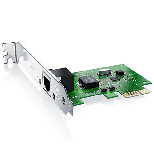 CSL - PCIe Gigabit Netzwerkkarte | PCI-E / PCI Express | 10/100/1000 Mbit/s Gigabit Netzwerke | Lan / Fast Ethernet / Gigabit