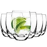 KROSNO Wassergläser Saftgläser | Set von 6 | 360 ML | Elite Kollektion | Perfekt für zu Hause, Restaurants und Partys | Spülmaschinenfest und Mikrowellengeeignet
