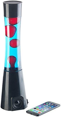 Lunartec Lavaleuchten: Lavalampe rot/blau mit 10-Watt-Lautsprecher, Bluetooth 4.1 und AUX-In (Lavalichter)