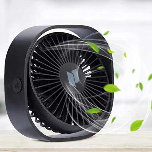 Renfox USB Ventilator 3 Geschwindigkeiten Mini Ventilator USB Tischventilator mit Windrichtung Einstellbar, für den Schreibtisch, Zuhause, Büro und Zimmer