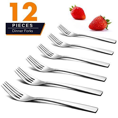 Elegant Life Dinner Gabeln, 12-teiliges Edelstahl Gabeln Set Spiegel poliert Moderne Besteck Gabeln für die Küche, 8 Zoll