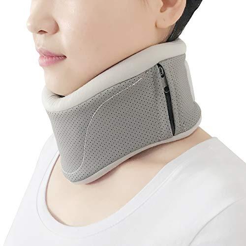 REAQER Einstellbar Halskrause mensch Nackenstütze Halskrawatte Zervikalstütze Nacken-Höhe Super Soft Lindert Schmerzen und Druck im Rücken - für Männer, Frauen, ältere Menschen