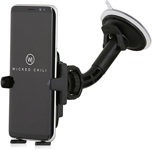 Wicked Chili KFZ Halterung mit Kugelgelenk für Samsung S9 / S8 / A5 / A3 / J5 / J3 / S7 / S6 / Duos / Edge / S5 / B2710 Samsung Handy Autohalterung Smartphone (Made in Germany, für Hülle & Case)