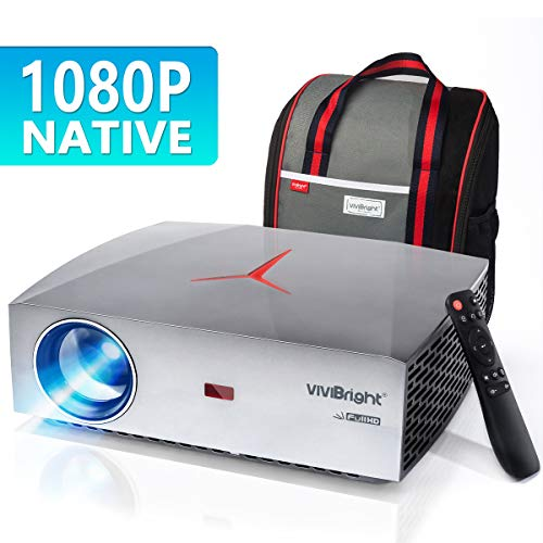 VIVIBRIGHT F40 1080P Beamer, Native Full HD Projektor, 4200Lumen Video Beamer 300' Display Heimkino Beamer, HiFi Klasse Lautsprecher mit SPDIF, Kompatibel mit TV Stick, PS4, Xbox, HDMI, SPDIF, USB, AV