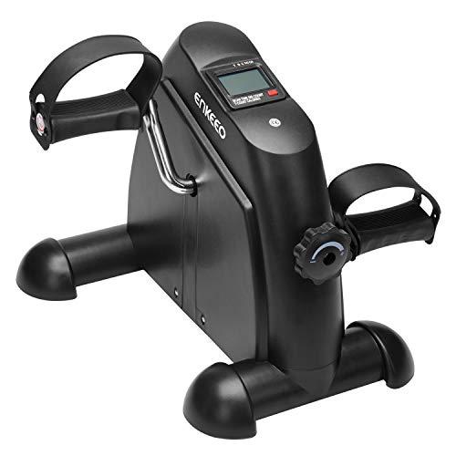 ENKEEO Mini Bike Heimtrainer Arm- & Beintrainer Pedaltrainer Bewegunstrainer mit LCD-Monitor, Einstellbare Widerstand für Zuhause, Büro, 35x40x35 cm ...