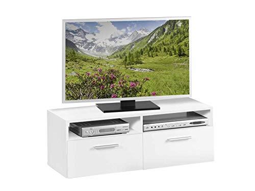 TV-Lowboard Fernsehschrank Fernsehtisch RASANT 1 | Dekor | Weiß | 95x35x36 cm