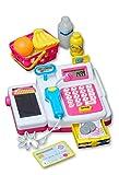 Eddy Toys Spielkasse als Kaufladen Zubehör, Kinder Spielzeug, mit funktionsfähigen Eingabefeld, Scanner, Geldfach & vieles mehr