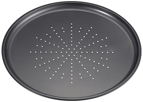 IBILI Moka Pizzablech rund, mit kleinen Löchern, 32 cm Durchmesser, 1,8 cm Höhe, 1 Stück