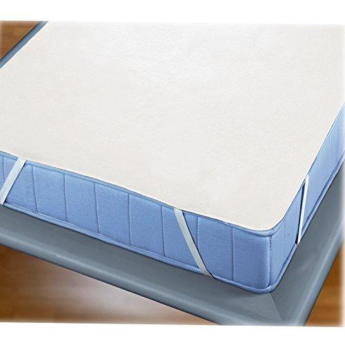 Molton Matratzen Auflage von JEMIDI Schoner Matratzenschoner Bezug Schonbezug Matratzenschutz Unterlage rutschfest Matratzenschoner Matratzenunterlage 80cm x 200cm